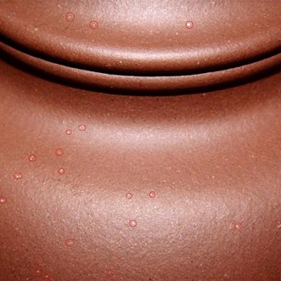 原矿紫砂壶的特征:云母和铁质熔点
