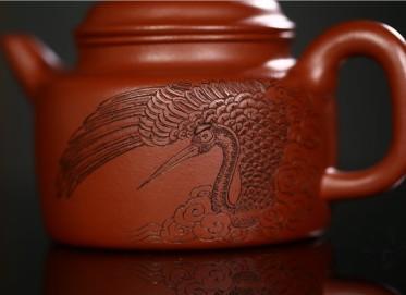 徐勤紫砂壶作品 原矿大红袍德钟壶 260CC 国家级高级工艺美术师 徐勤紫砂壶价格,多少钱