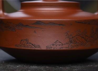 范文杰紫砂壶作品 原矿底槽清大提壁壶 600CC 国家级工艺美术师 范文杰紫砂壶价格,多少钱