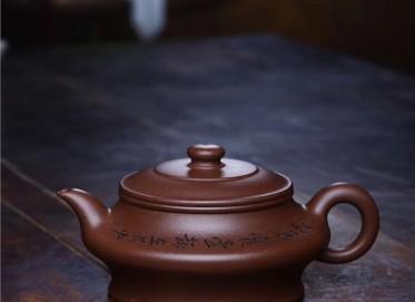 范文杰紫砂壶作品 原矿紫泥虚扁壶 300CC 国家级工艺美术师 范文杰紫砂壶价格,多少钱