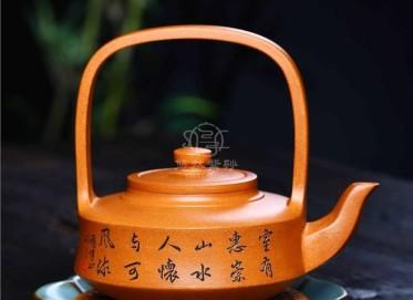 储国峰紫砂壶作品|蟹黄段泥提壁壶500CC纯手工真品行情