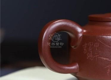 李昌鸿紫砂壶作品|原矿紫泥周盘壶360CC手制真品价格表