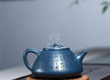 徐志新紫砂壶作品|墨绿泥子冶石瓢壶300CC手工正品多少钱