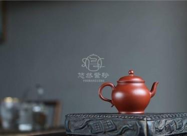 许国强紫砂壶作品|粗砂朱泥宫灯壶100CC手制真品价位