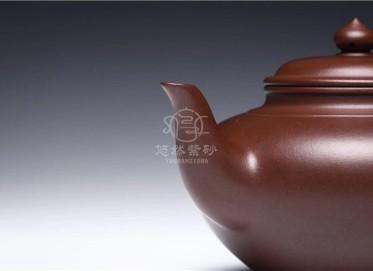 庄尹杰紫砂壶作品 原矿紫泥笑樱壶320CC手制正品价位