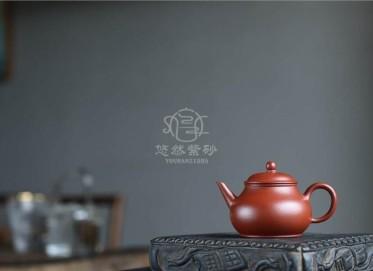 许国强紫砂壶作品|粗砂朱泥秋水壶100CC手制正品价值