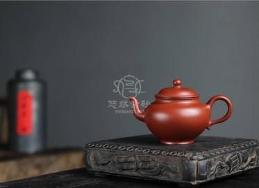 许国强紫砂壶作品 粗砂朱泥笑樱壶130CC手工正品多少钱