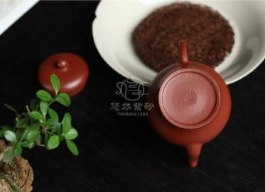 许国强紫砂壶作品|粗砂朱泥宫灯壶100CC手工真品价位