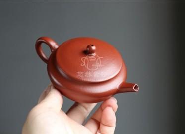 许国强紫砂壶作品|粗砂朱泥福鼓壶100CC纯手工真品价格表