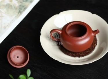 许国强紫砂壶作品|粗砂朱泥圆韵壶130CC纯手工正品价值