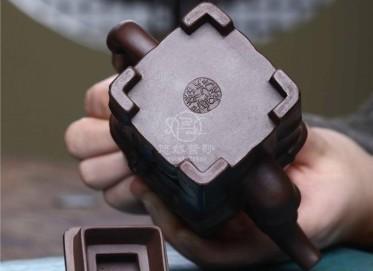 朱峰紫砂壶作品 原矿紫泥高风亮节套组壶400CC手制正品价格