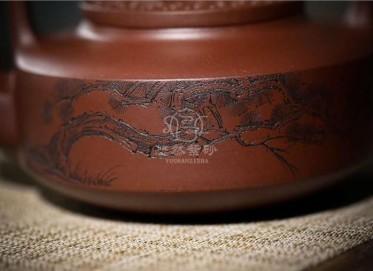 朱峰紫砂壶作品 原矿底槽清璧玉提梁壶800CC纯手工正品价值
