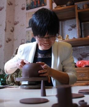 紫砂壶工艺师蒋晓光名家照片