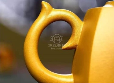 庄其芳紫砂壶作品|原矿黄金段泥海纳百川壶280CC手工正品价位