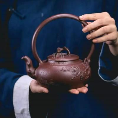 范微琴作品 葡萄提梁壶