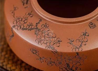 陈惠红紫砂壶作品|原矿底槽清周盘壶300CC手制真品多少钱