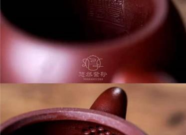 王超群紫砂壶作品|原矿紫红泥秦权壶280CC纯手工真品多少钱