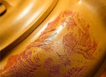 庄其芳紫砂壶作品|原矿黄金段泥博雅壶400CC手制正品价位