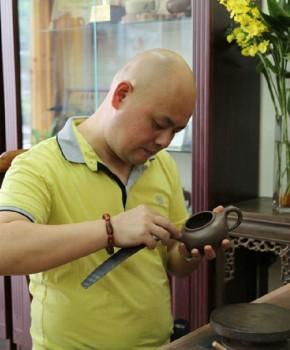 紫砂壶工艺师张继业名家照片