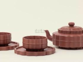 紫砂壶拍卖|施小马制《菱花套组壶》拍出43万元