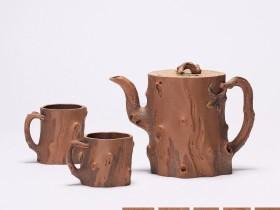 紫砂壶拍卖 张正中制《树桩壶套具》拍出63万元