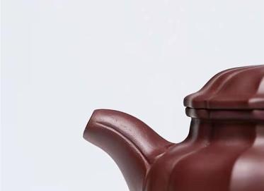 许涛紫砂壶作品 原矿底槽清筋纹仿古壶230CC纯手工真品多少钱