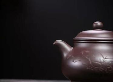 韩惠琴紫砂壶作品|原矿紫泥潘壶260CC全手工真品价格