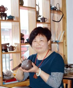 紫砂壶工艺师芦士娟名家照片