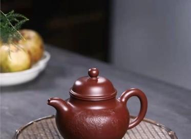 郭余华紫砂壶作品|紫朱泥掇球壶300CC手工真品怎么样