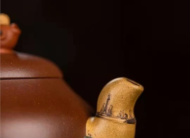 王国祥紫砂壶作品|原矿底槽清金玉满堂壶400CC全手工正品价格表