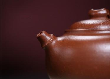 许华芳紫砂壶作品|原矿降坡泥雅竹壶410CC手制真品价格