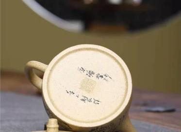 郭余华紫砂壶作品|本山绿泥汉铎壶260CC全手工真品多少钱