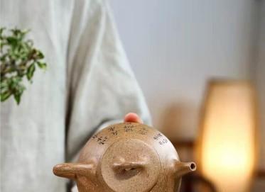 张伟军紫砂壶作品|五彩段泥石瓢壶270CC手工真品行情