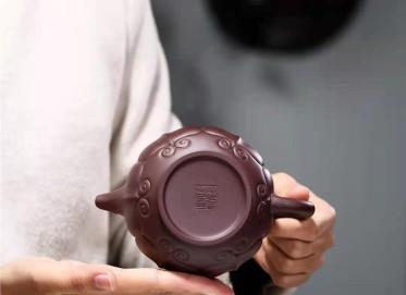 张伟军紫砂壶作品 原矿紫泥处处如意壶420CC全手工真品价格