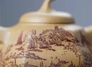 陈浩紫砂壶作品|原矿段泥六方茄段壶300CC手工真品价值