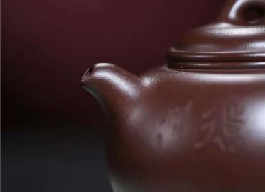 许华芳紫砂壶作品 原矿紫泥圆融壶350CC手制真品价格表