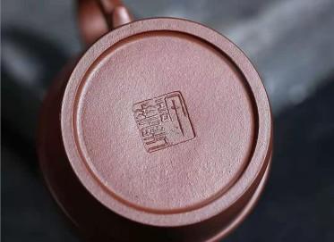 许华芳紫砂壶作品|原矿紫泥锦缘壶400CC全手工正品价格