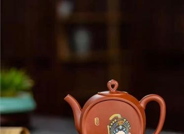 王国祥紫砂壶作品|原矿底槽清戏如人生壶350CC纯手工真品价格表