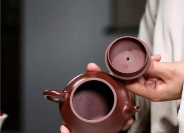 杨鹏紫砂壶作品|石红料汉棠石瓢壶220CC纯手工正品怎么样