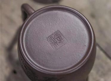 牟锦芬紫砂壶作品|天青泥高德钟壶290CC全手工正品价格表