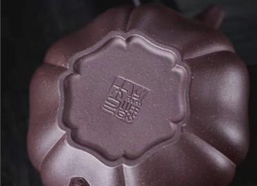 牟锦芬紫砂壶作品|原矿紫泥葵仿古壶270CC手制正品价格表