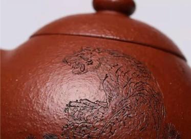范秀芳紫砂壶作品 原矿大红袍龙蛋壶480CC全手工正品价格表