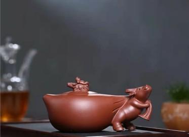陈亚萍紫砂壶作品|原矿底槽清牧牛壶400CC纯手工真品行情