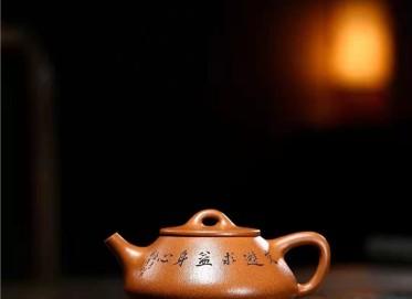 朱正琴紫砂壶作品|蟹黄段泥石铫壶220CC全手工真品多少钱