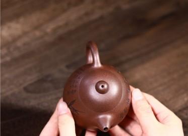 徐勤紫砂壶作品|黑星砂龙蛋壶220CC手制正品价格表