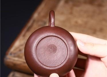 史宗娟紫砂壶作品|紫朱泥容天壶210CC手制真品多少钱