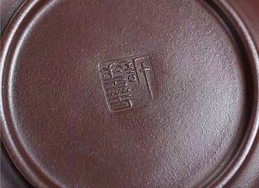 许华芳紫砂壶作品|原矿紫泥万福如意壶340CC纯手工真品价格