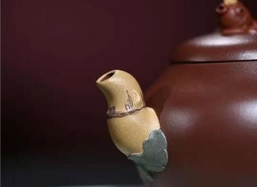 王国祥紫砂壶作品|原矿底槽清金玉满堂壶400CC手制正品价格