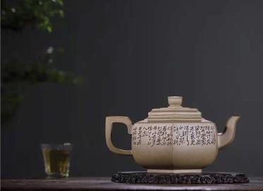 王岳龄紫砂壶作品|原矿段泥六方雪华壶770CC纯手工正品价格表