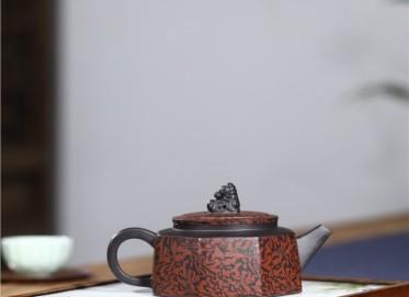 史宗娟紫砂壶作品|黑料祥瑞八方壶220CC纯手工正品怎么样